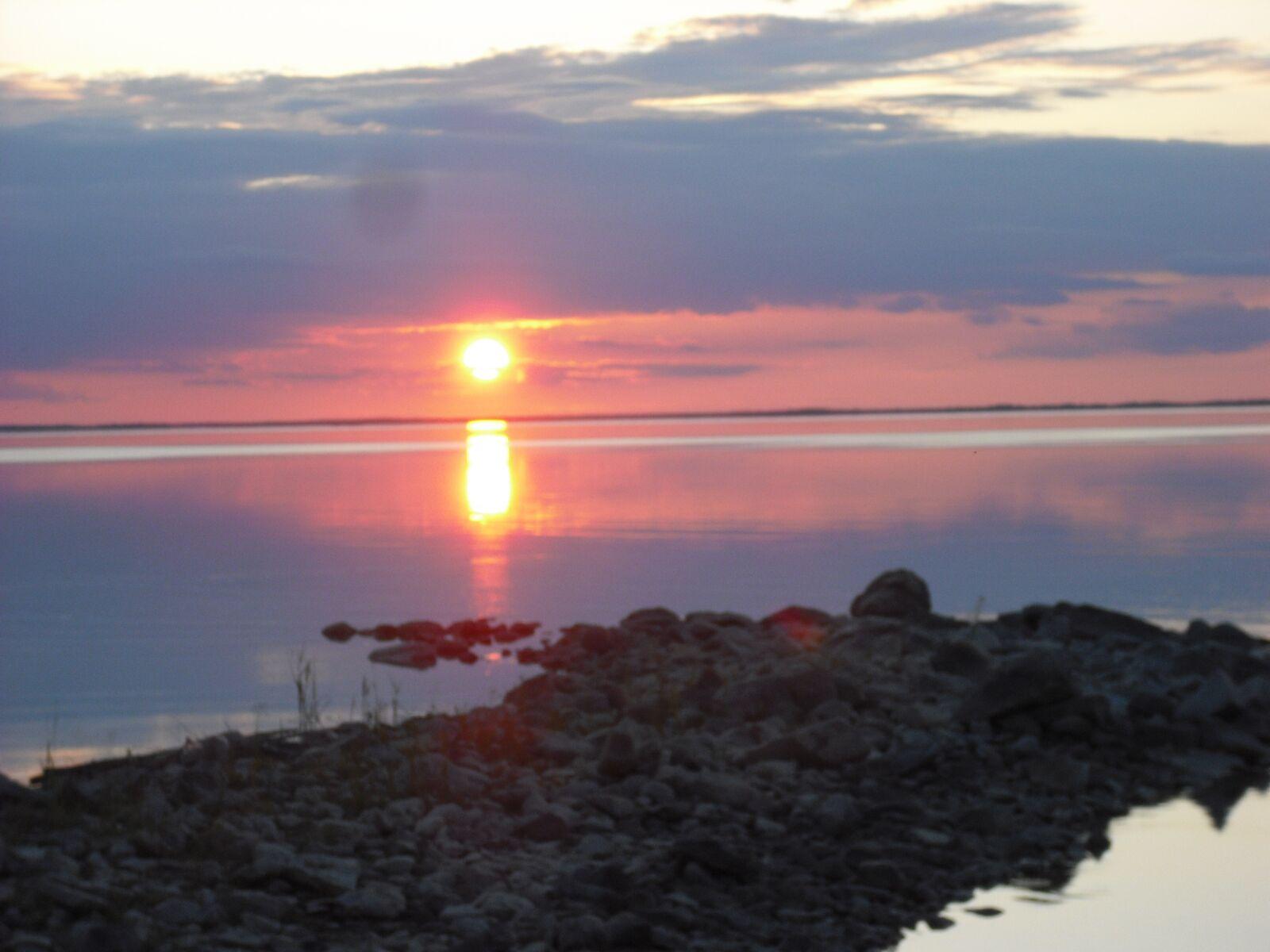 clearwater lake, sunset, lake