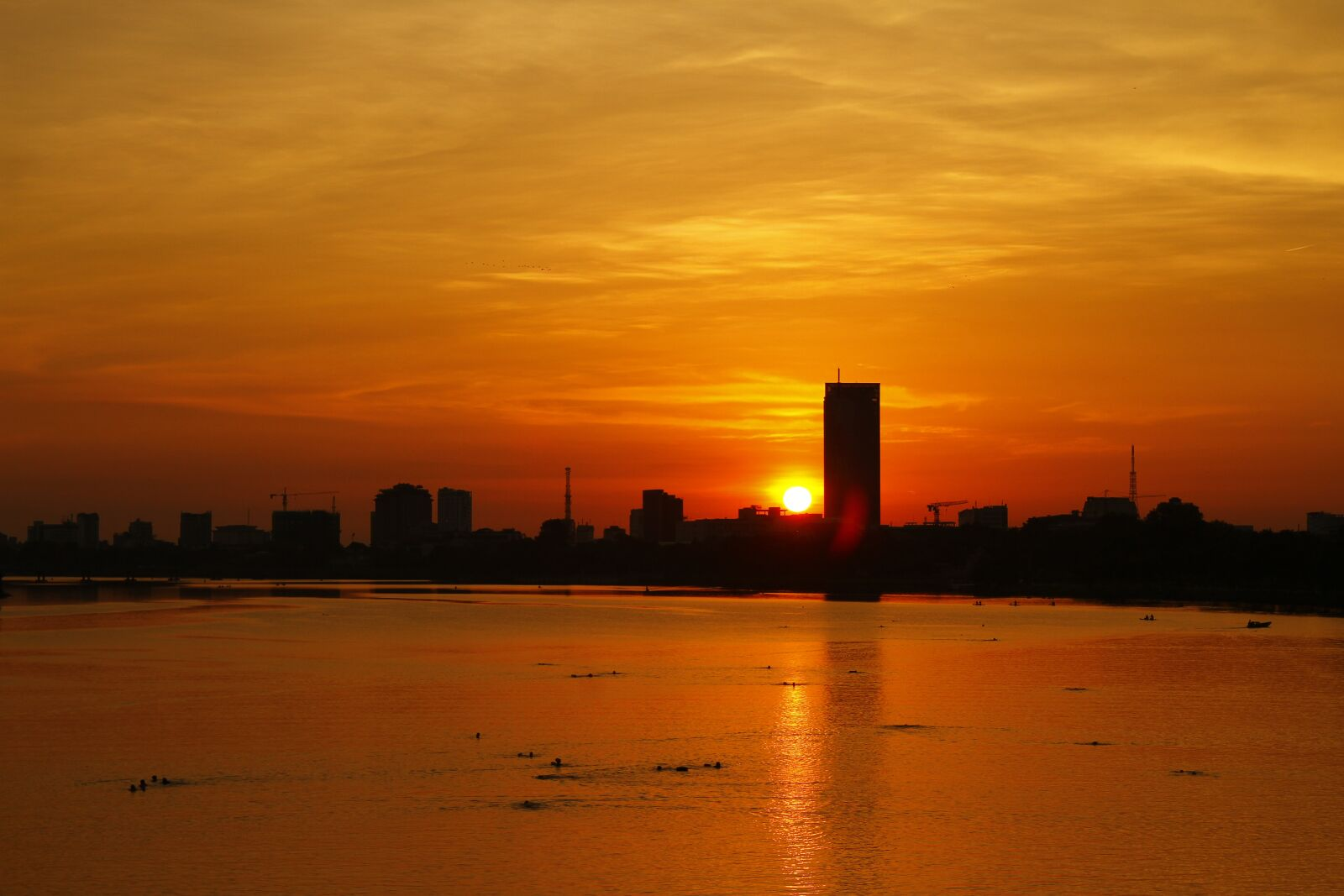 """Canon EOS 7D sample photo. """"Sunset, river, silhouette"""" photography"""