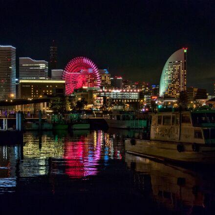 japan, night view, yokohama, Olympus E-M5