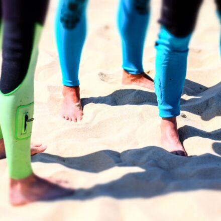 beach, feet, legs, Fujifilm X-E2