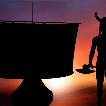 silhouette, viking, nordmann, Panasonic DMC-FS10