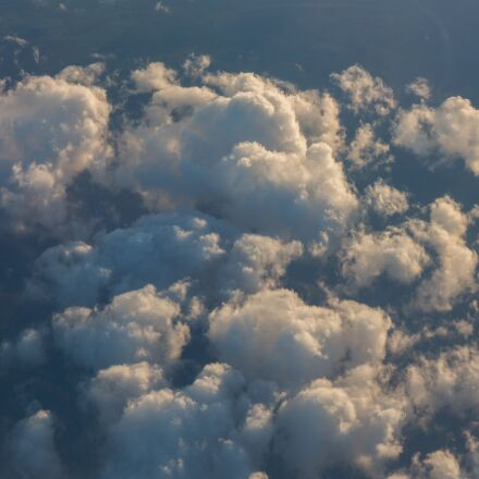 clouds, sky, above, Canon EOS M