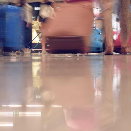 airport, bag, bags, crowd, Nikon D3300