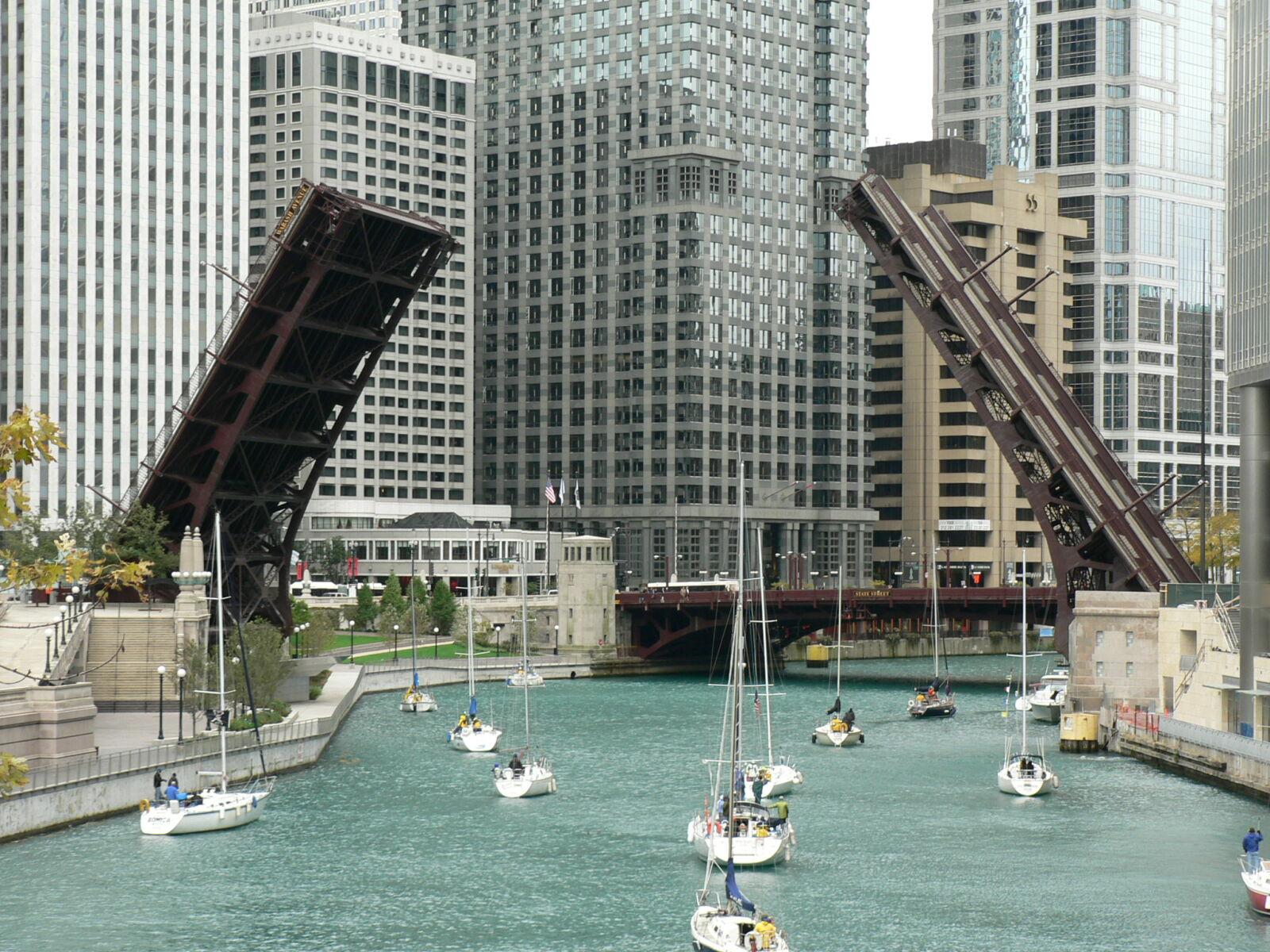 bridges, chicago, river