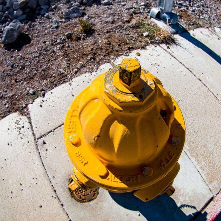 hydrant, street, yellow, Pentax K-5 II S