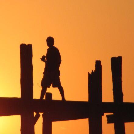 sunset, walk, person, Canon POWERSHOT SX120 IS