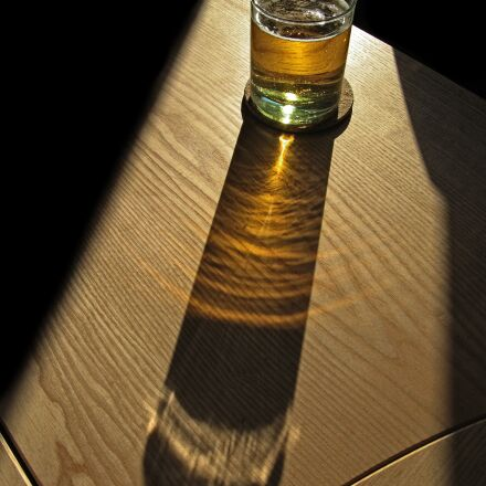 beer, glass, shadow, Canon POWERSHOT S80