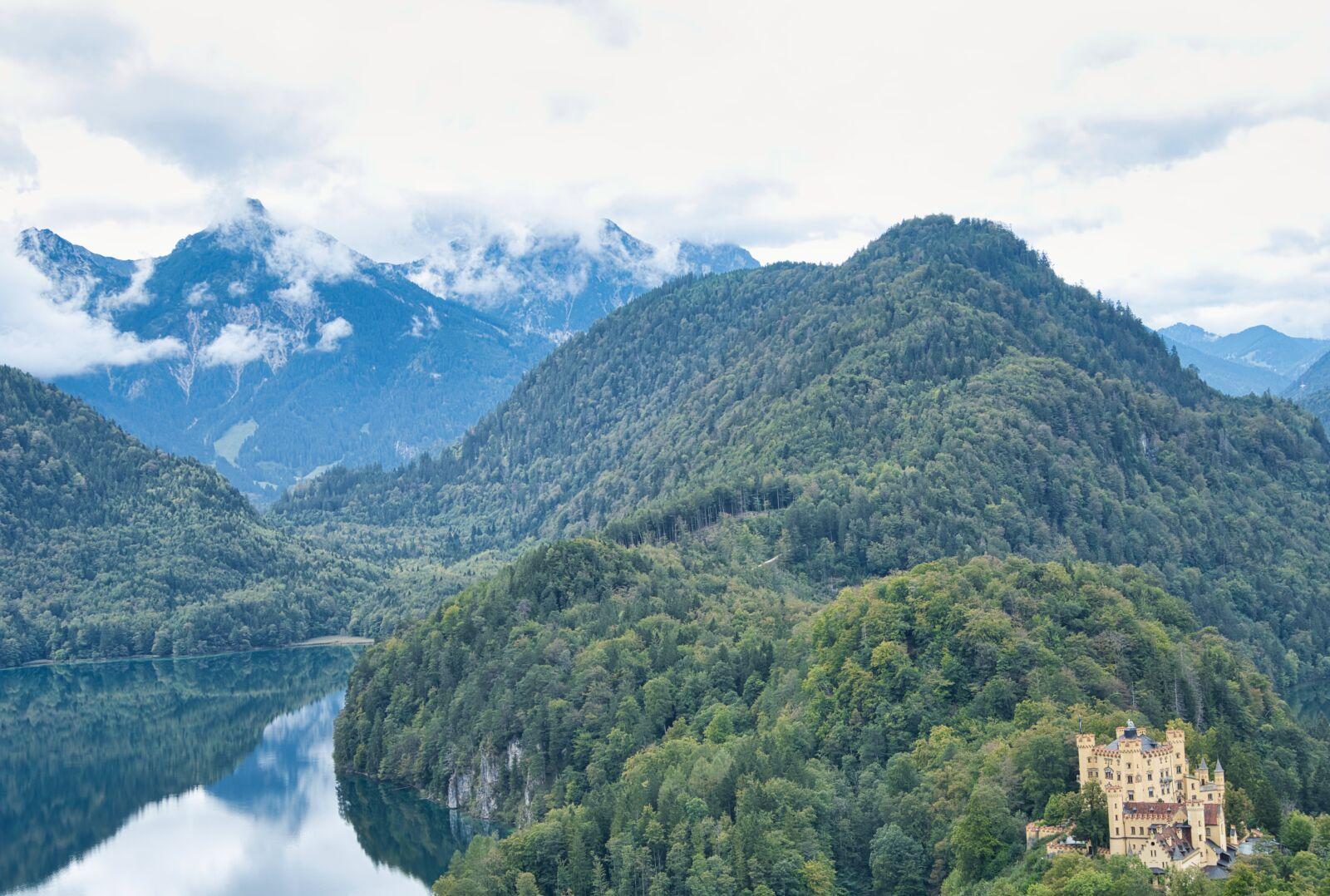 "Sony a6400 sample photo. ""Mountains, lake, castle"" photography"
