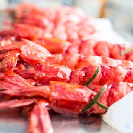 red shrimp, spain, mediterranean, Samsung NX30