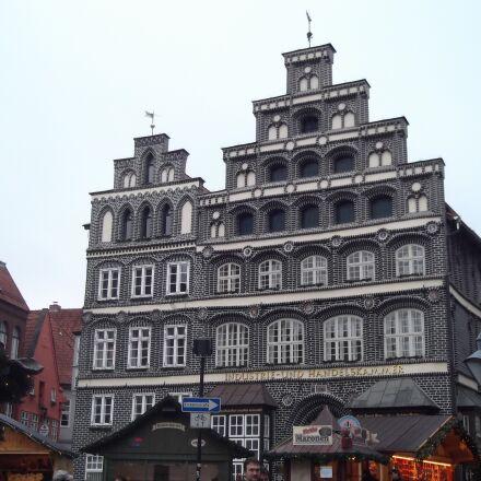 lüneburg, house, truss, Fujifilm FinePix AX250