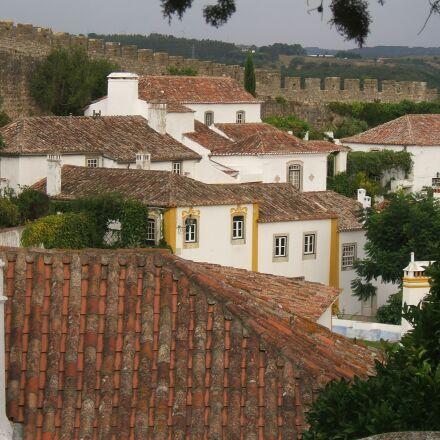 town, village, roofs, Fujifilm FinePix E550