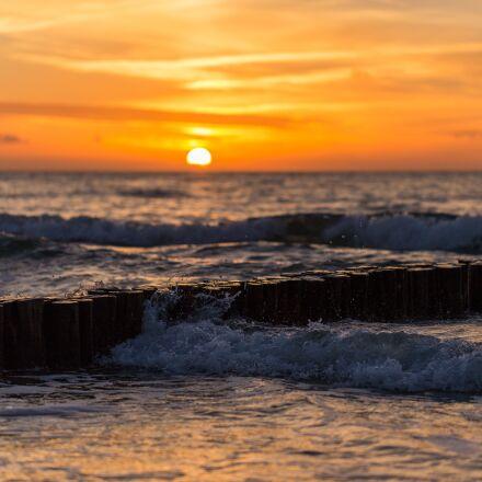 sunset, sea, cool, Canon EOS 6D