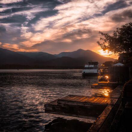 lake, boat, evening, Panasonic DMC-GF2