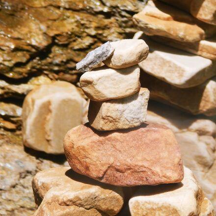stones, balance, zen, Nikon COOLPIX L830