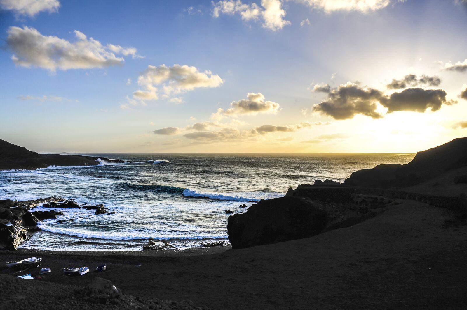 "Nikon D700 sample photo. ""Lanzarote, sea, coast"" photography"