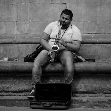 musician, street photography, italy, Canon EOS 5D MARK III