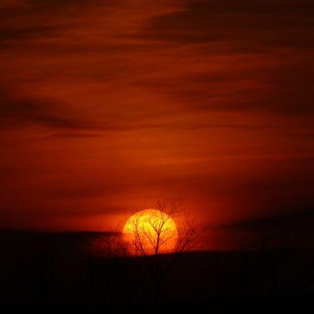 sunset, sun, evening, Sony DSC-HX10