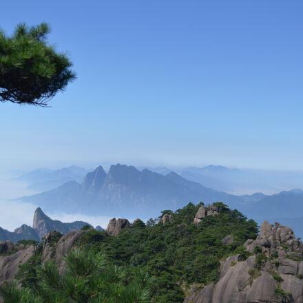 mountain, under, clear, blue, Nikon D3200