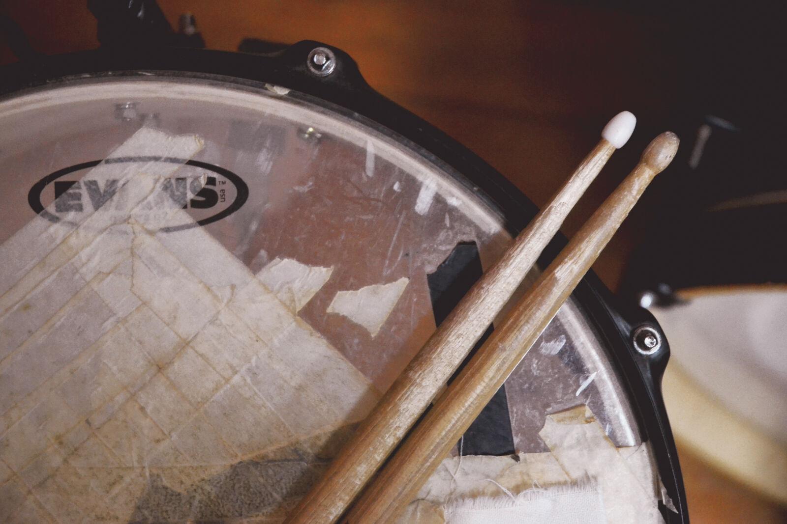 "Nikon D3100 sample photo. ""Drum, stick, on, drum"" photography"