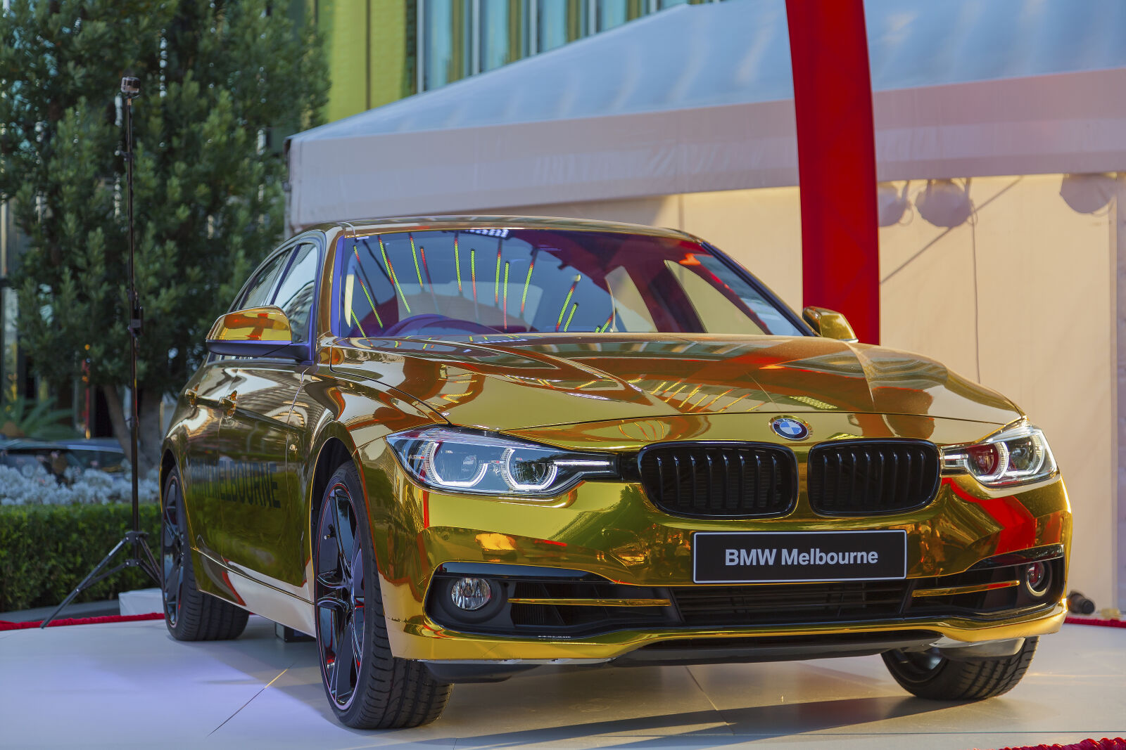 bmw, golden, luxury, car