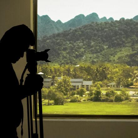 adult, backlit, building, camera, Samsung NX1