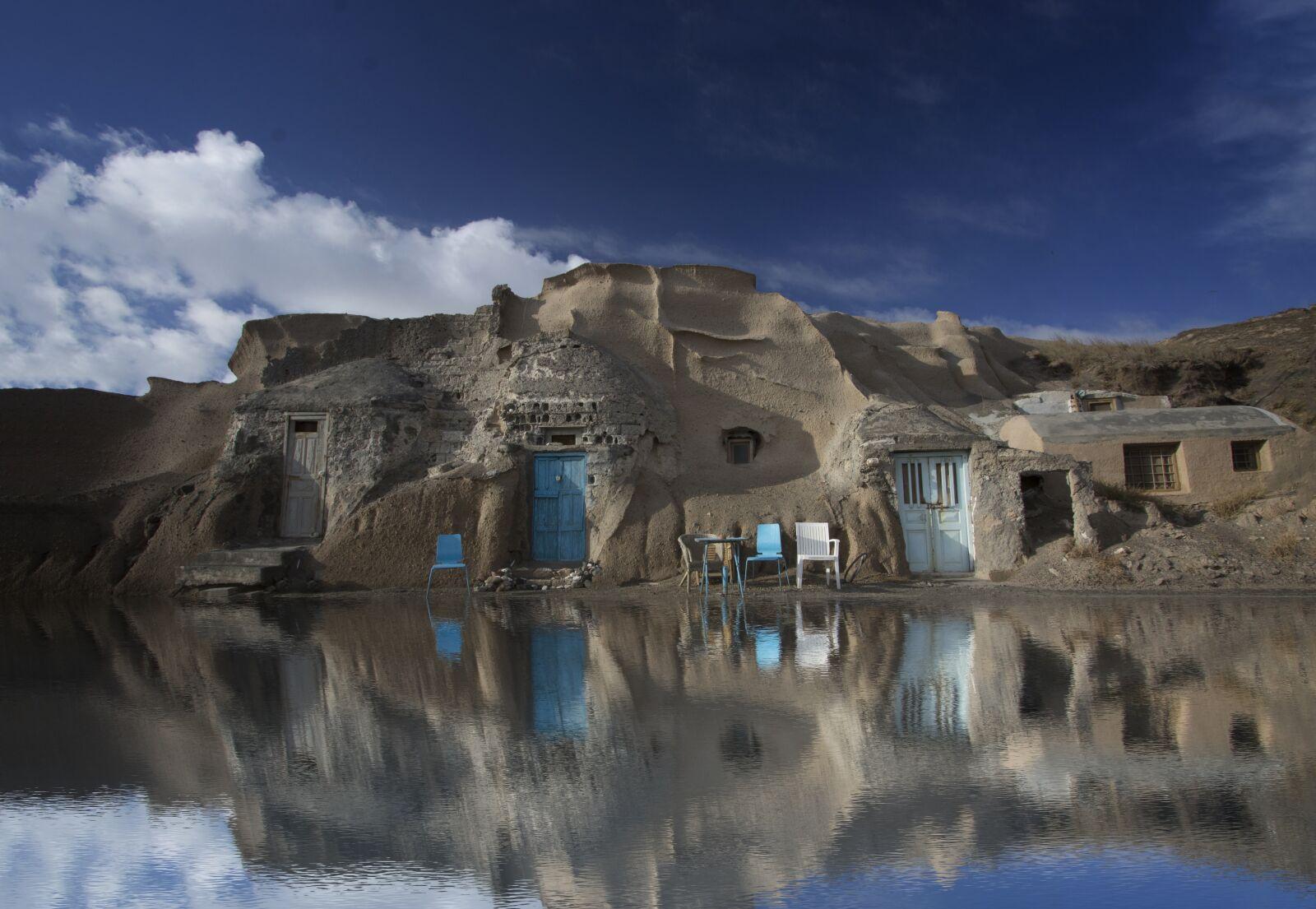 """Canon EOS 1100D (EOS Rebel T3 / EOS Kiss X50) sample photo. """"Santorini, beach, reflection"""" photography"""