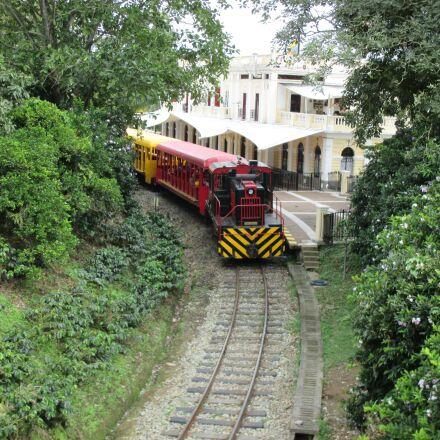 landscape, train, railway, Canon POWERSHOT ELPH 135