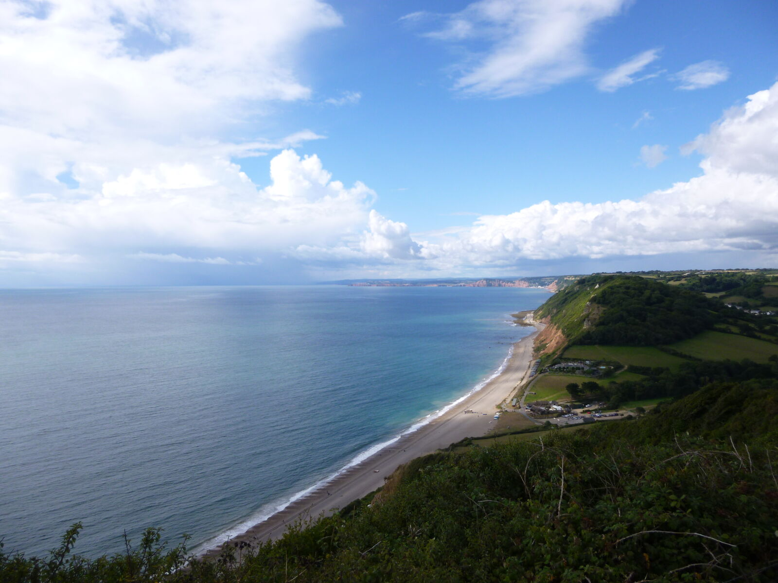 "Panasonic DMC-SZ3 sample photo. ""Beach, cliffs, green, landscape"" photography"