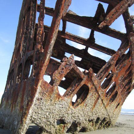 ship, sunken, old, Canon POWERSHOT SD1400 IS