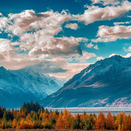 mountain, sky, landscape, Canon EOS 700D