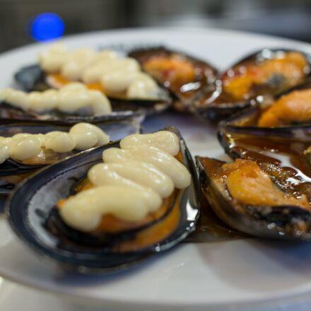 mussels, seafood, mediterranean cuisine, Samsung NX30