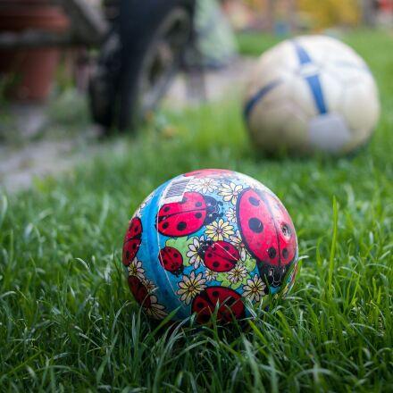 ball, meadow, garden, Samsung NX300M