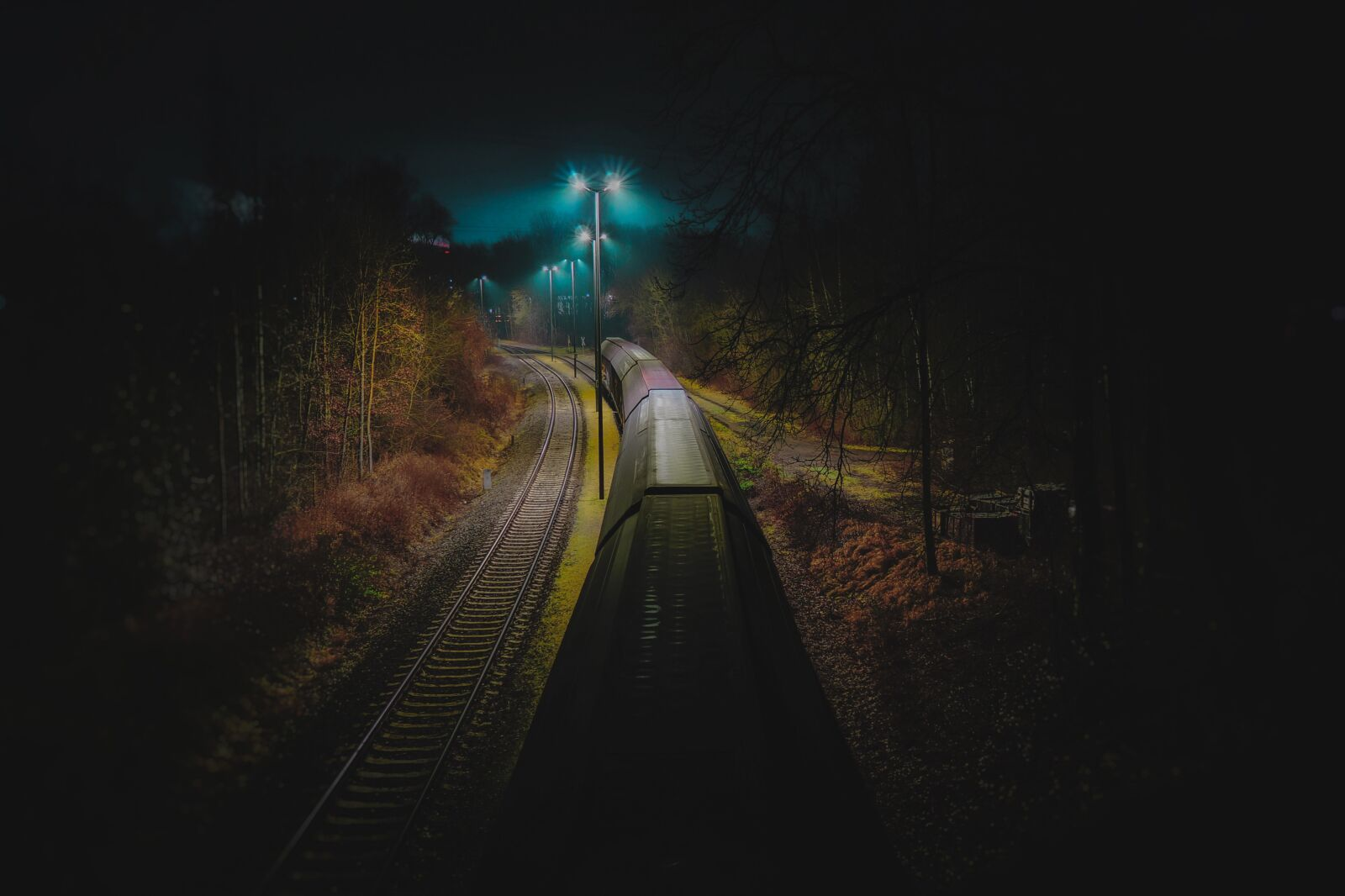 "Sony Alpha NEX-7 sample photo. ""Train, fog, dark"" photography"
