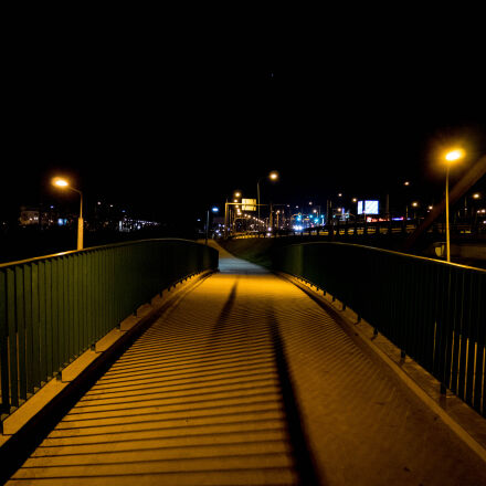 bridge, city, night, Panasonic DMC-GM1
