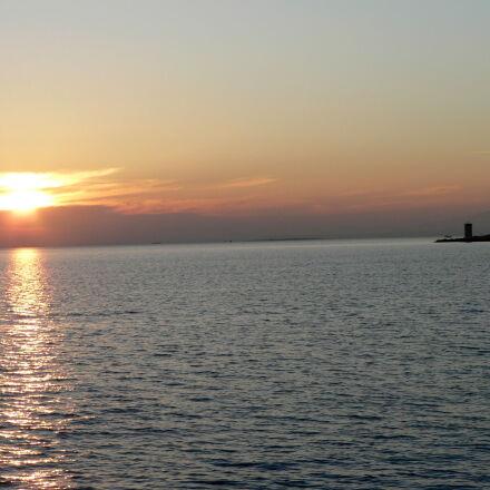 sea, sunset, Panasonic DMC-FZ5