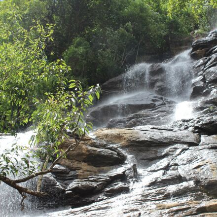waterfall, river, nature, Canon EOS 600D