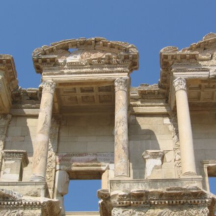 library, ephesus, classical architecture, Canon POWERSHOT A520