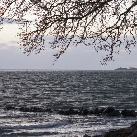 sea, water edge, clouds, Canon EOS 7D