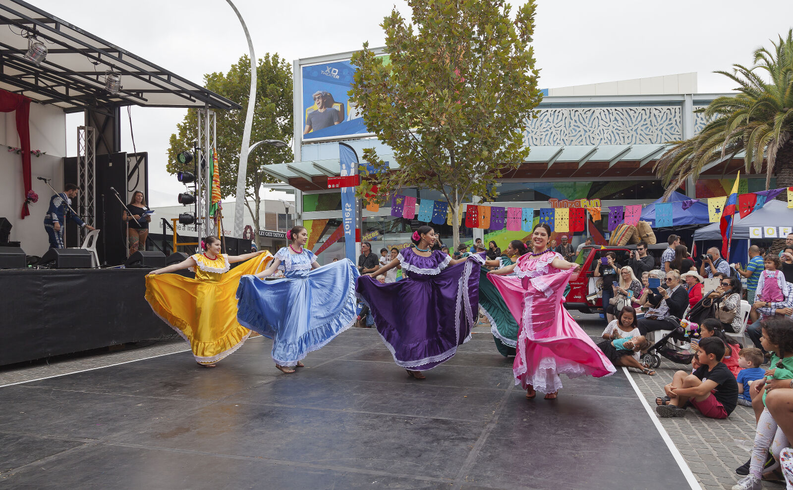 dancer, dresses, festival, mexican