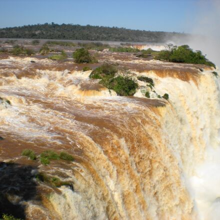 waterfall, cascade falls, river, Nikon COOLPIX S210