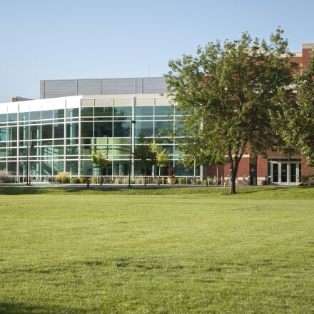 building, campus, college, morning, Nikon D70S