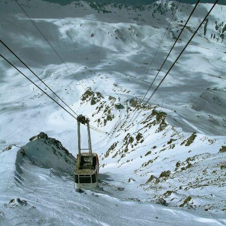 cable car, winter, gondola, Sony DSC-W17