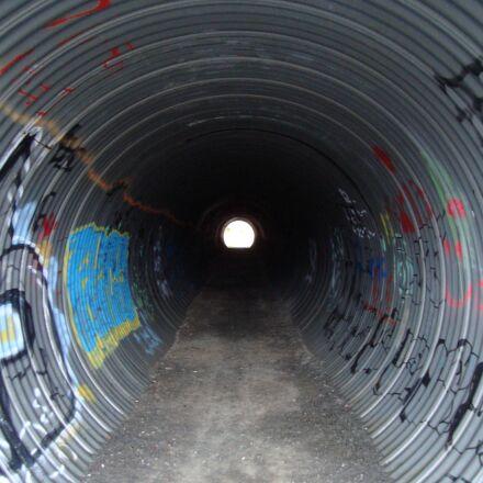 tunnel, metal, passageway, Sony DSC-W120
