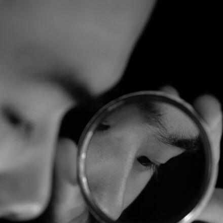 eye, black and white, Fujifilm X-E2S