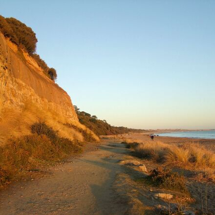 ocean, walkway, dorset, Fujifilm FinePix S100FS