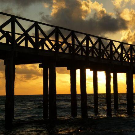 sunset, beach, sky, Panasonic DMC-FH8