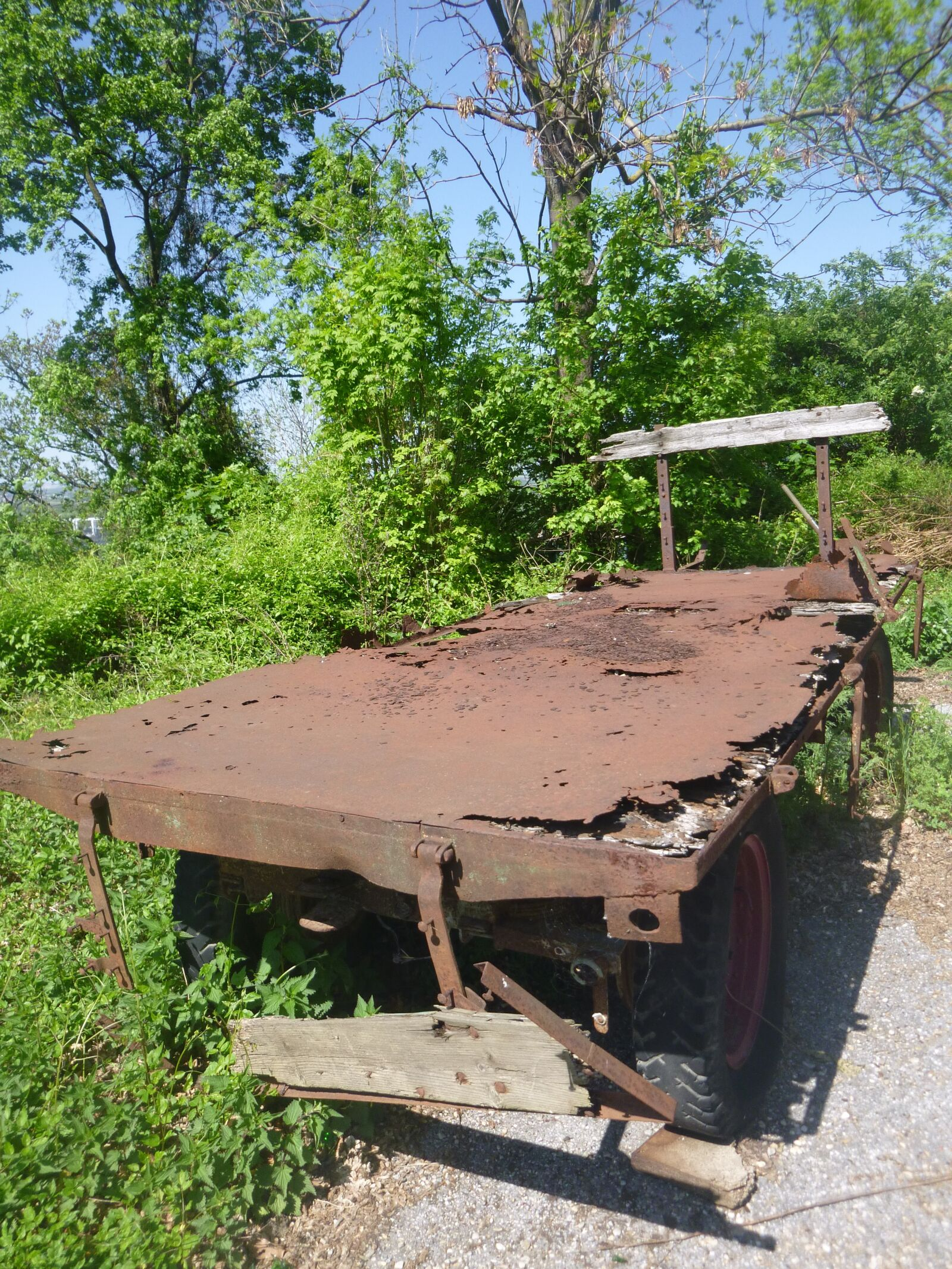 rust, metal, wagon