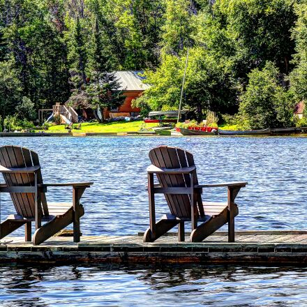 lake, cottage, chairs, Canon EOS 60D