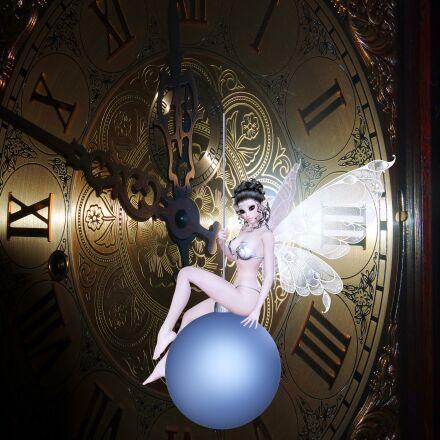 clock, beautiful fairy, time, Samsung NX mini
