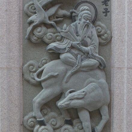 statue, sculpture, taoism, Panasonic DMC-ZS20